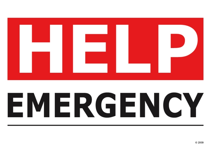 HelpEmergencyHomeSign