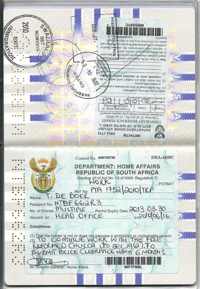 Work Permit 2010 2013